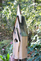 Graceland Birdhouse in Weathered White.