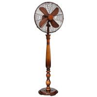 """Sutter 16"""" Faux Wood Standing Floor Fan (Resin, Metal) Portable Electric Fan"""