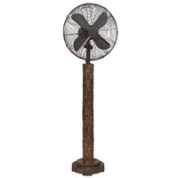 "Faux Fir Bark 16"" Floor Fan Portable Electric Fan"
