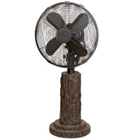 "Faux Fir Bark 10"" Table Fan Portable Electric Fan"