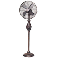 "Fleur De Lis - Copper Metallic 16"" Floor Fan Portable Electric Fan"