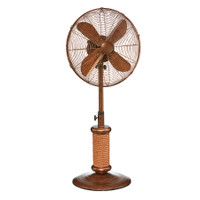 "Nautica Outdoor Fan - 18"" Coastal Style Fan with Faux Rope Accents Portable Electric Fan"
