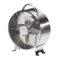 Stainless Retro Metal Box Fan Portable Electric Fan