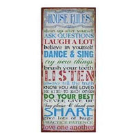 Rustic Metal Sign - House Rules