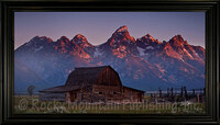 Coming Sun - Dan Ballard Giclee of the Moulton Barn at Sunrise - Landscape Art