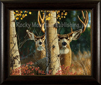 Among the Aspens - Tom Mansanarez Wildlife Art Giclee