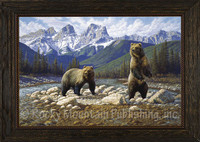 Deuces Wild - Manuel Mansanarez Wildlife Art Giclee - Grizzly Bears
