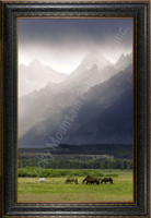Misty Morning - Mitchell Mansanarez Landscape Photograph - Framed Giclee