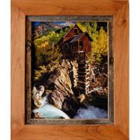 Rustic Frames-8x12 Alder Wood & Barnwood Frame - Sagebrush Series