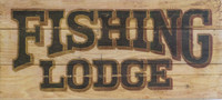 Fishing Lodge Vintage sign - small