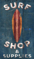 Vintage Surf Shop Sign