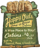 Vintage Cabin Resort Sign