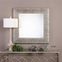 Uttermost Cressida Distressed Silver Square Mirror