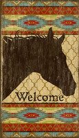 Vintage Horse Welcome Sign