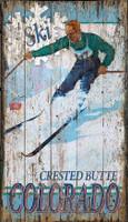 Vintage Crested Butte Skiing Sign