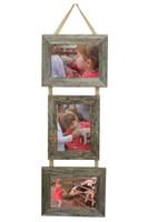 5X7 Triple Barnwood Frame, 2 Landscape & 1 Portrait