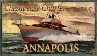 Vintage Chesapeake Charter-Annapolis Sign