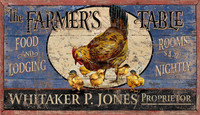 Vintage Sign - Farmer's Table Lodge