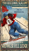 Vintage Signs - Slalom Skiing Championships
