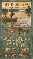 Vintage Mille Lacs Lake Sign