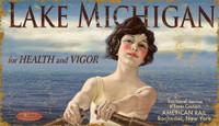 Vintage Lake Michigan Sign