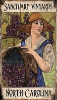 Rustic Vineyard Harvest Sign
