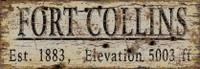 Vintage Fort Collins City Sign