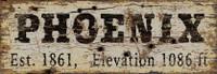 Vintage Phoenix City Sign