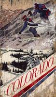 Vintage Flying Air Skiing Sign