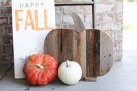 Barnwood pumpkin