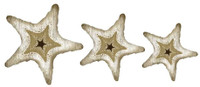 Rustic Starfish Cutout - Set of Three