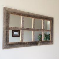 Small 8 Pane  Farmhouse Mirror - Clearance