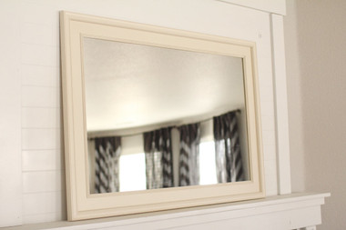 Ivory Poplar Mirror - 24X36 Pictured