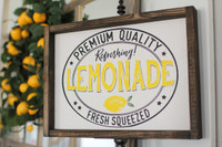 Lemonade Wooden Sign