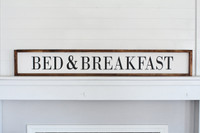 Bed & Breakfast Wooden Sign
