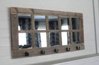 10 windowpane Mirror & Coat Hanger