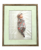 8.5 X 11 Sea-Foam Green Barnwood Picture Frame, Rustic Wood