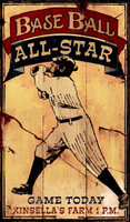 Nostalgic Baseball Signs - Base Ball All-Star