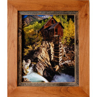 Rustic Frames-8x8 Alder Wood & Barnwood Frame - Sagebrush Series
