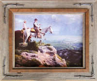 Western Frames with Barbed Wire - 16x20 Hobble Creek Series