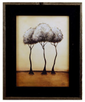 Mirage - Britt Hallowell Art Print in Black Reclaimed Wood Frame , 17x22