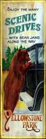 Rustic Vintage Sign - Bear Jams - Yellowstone Lodge Signs