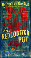 Nostalgic Vintage Signs- Primitive Red Lobster Restaurant Sign