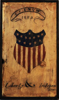 Vintage Signs Americana - Distressed Natural Wood Patriotic Sign