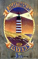 Retro Vintage Sign - Lighthouse Tavern Primitive Wood Signs