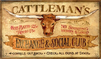 Cattleman's Vintage Western Signs - Custom Wood Sign