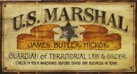 Vintage Western Signs - US Marshall Rustic Sign