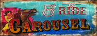 Nostalgic Vintage Carousel Signs - Distressed Carnival Sign