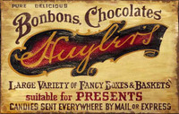 Retro Vintage Signs Chocloate - Rustic Candymaking Sign