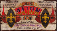 Vintage Cajun Restaurant Sign - Rustic Primitive Wood Signs